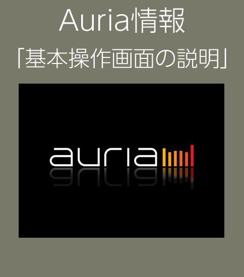 Auria基本操作画面の説明