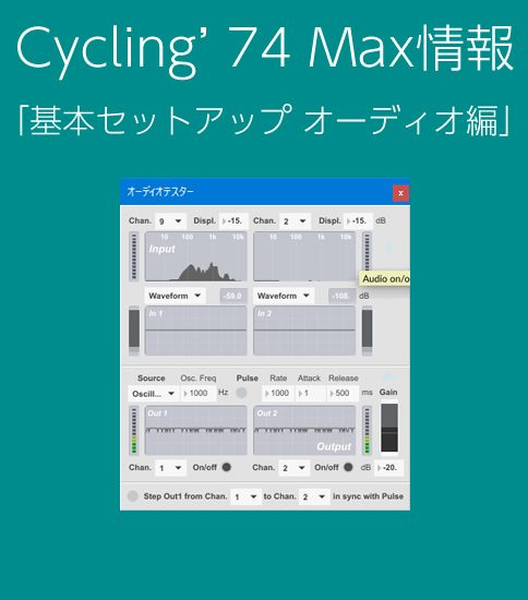Cycling'74 Max 初期セットアップ オーディオ編